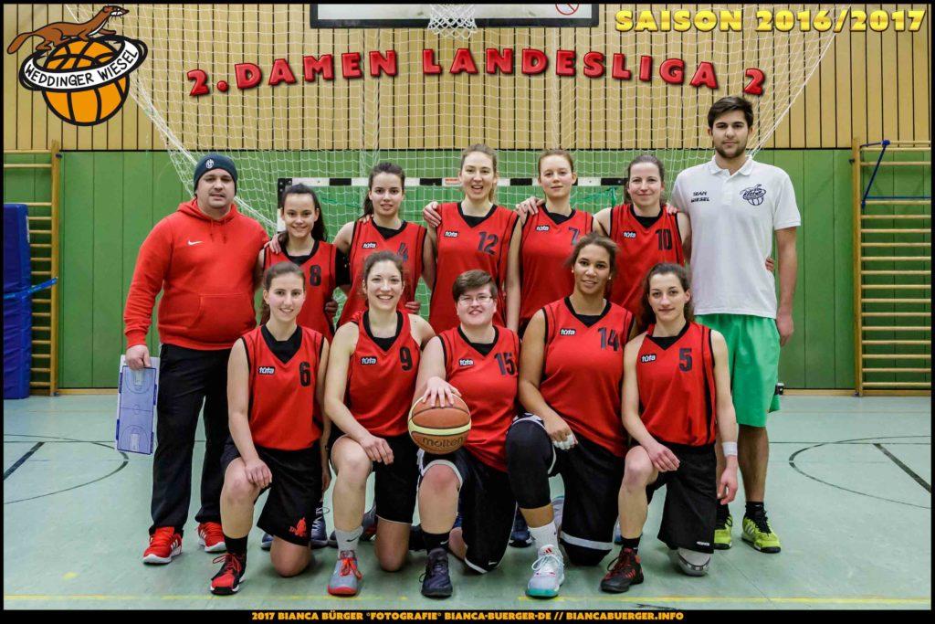 Teamfoto Damen-2 Saison 2016/17