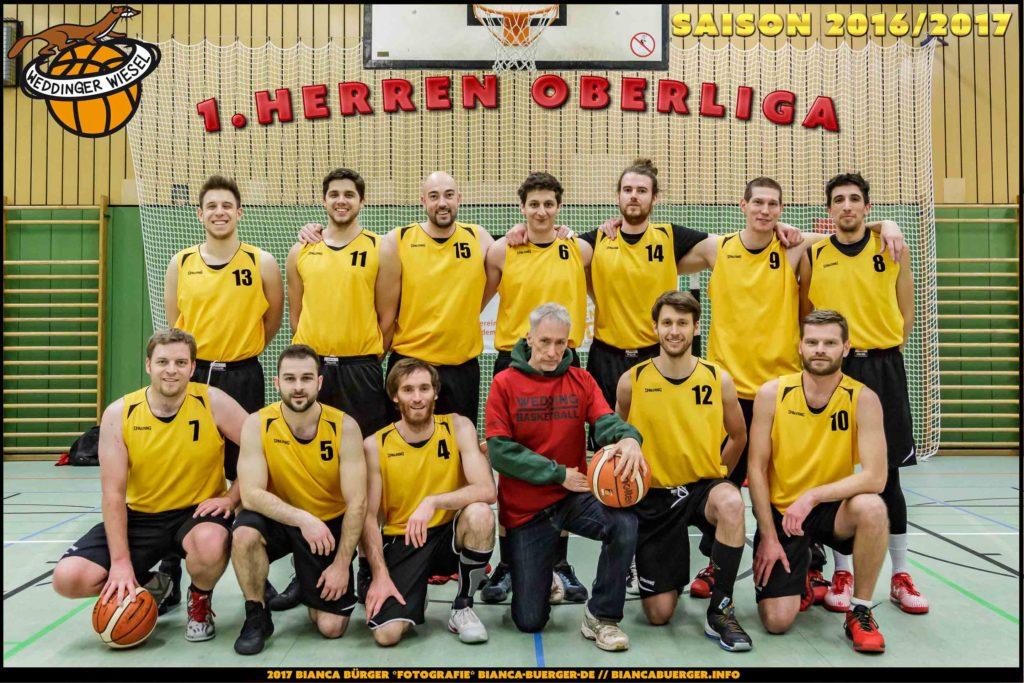 Team 1. Herren Weddinger Wiesel - Saison 2016-2017