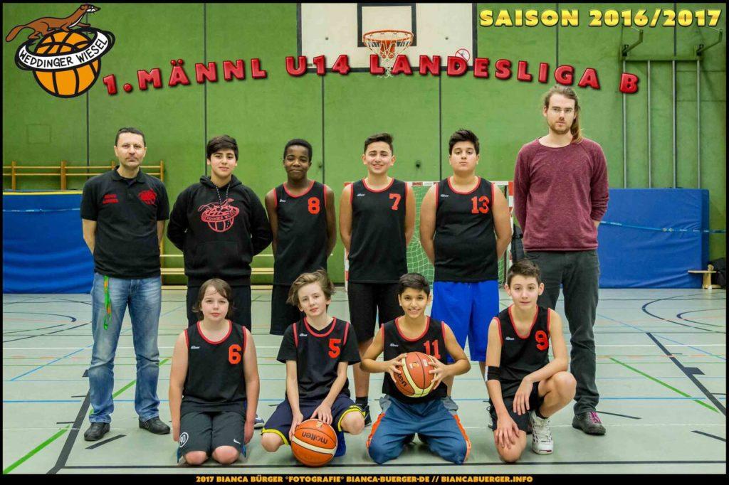 Teamfoto mu14 2016-17