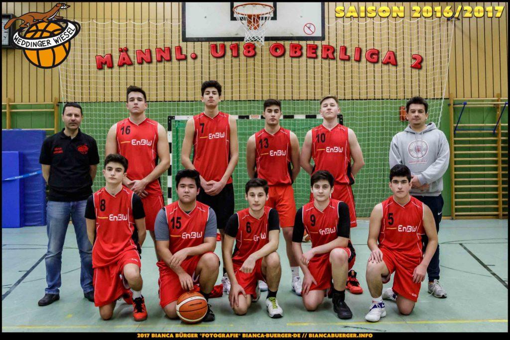 Teamfoto mu18 Saison 2016-17