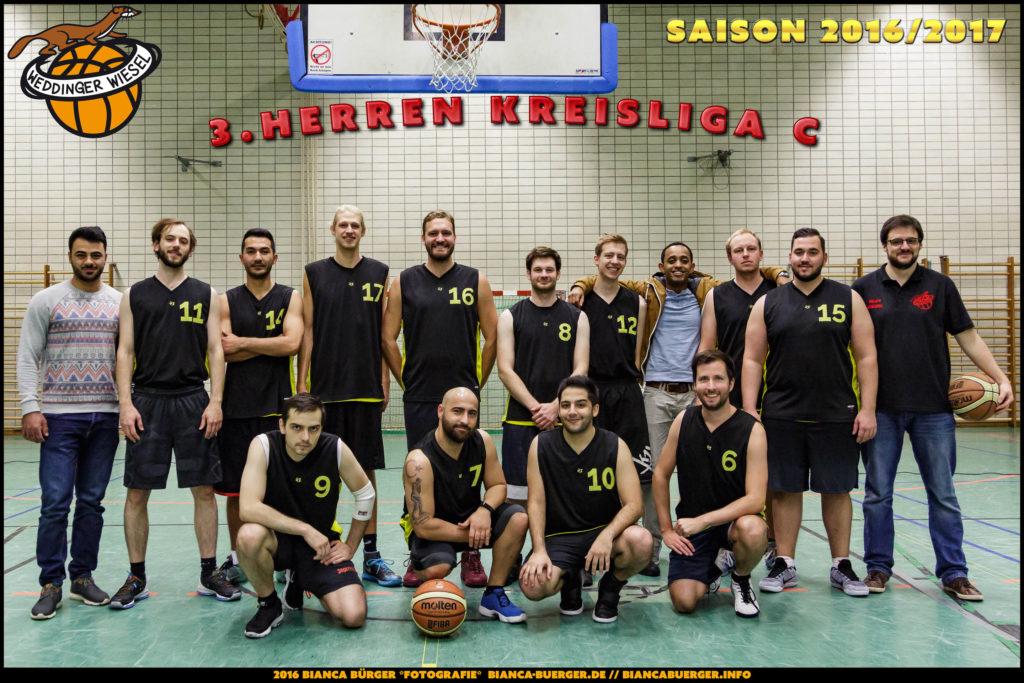 Team 3. Herren Weddinger Wiesel - Saison 2016/2017