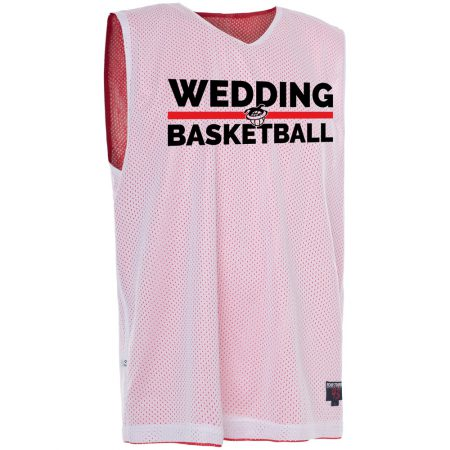 Wedding Basketball Reversible Jersey rot/weiß