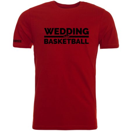 Wedding Basketball T-Shirt rot