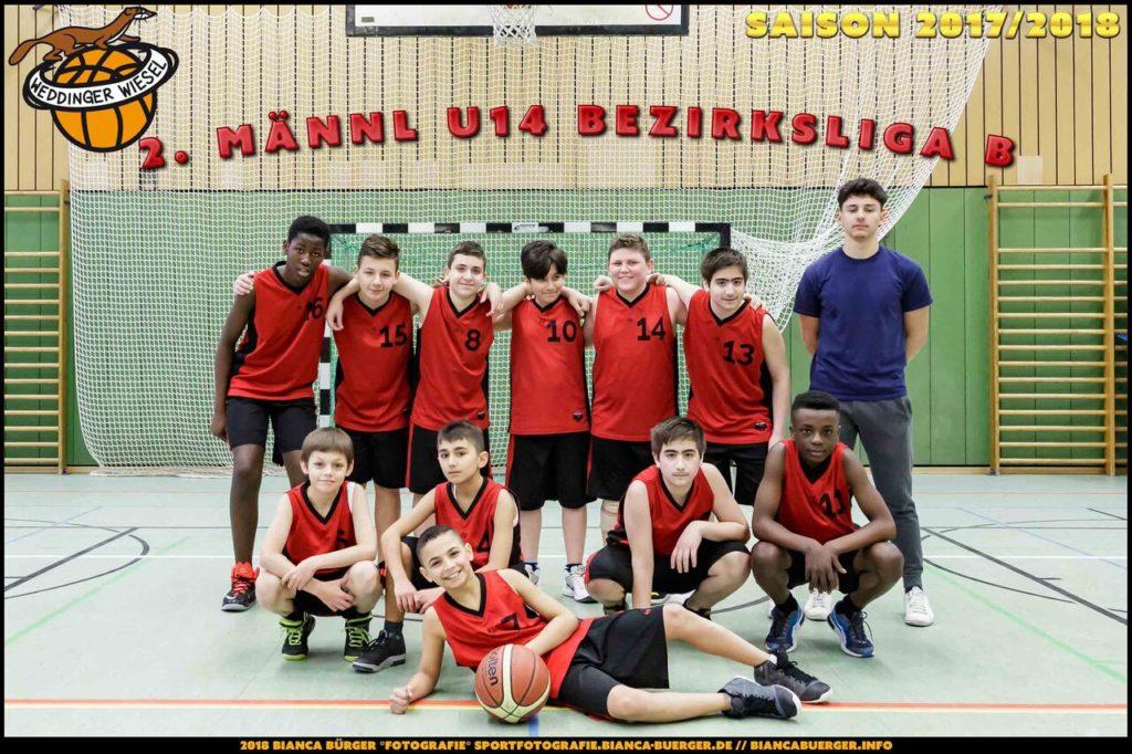 Teamfoto mu14-2 Saison 2017/18
