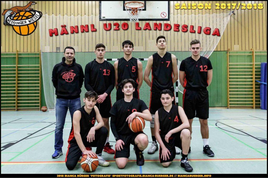 Teamfoto mu20 Saison 2017/18