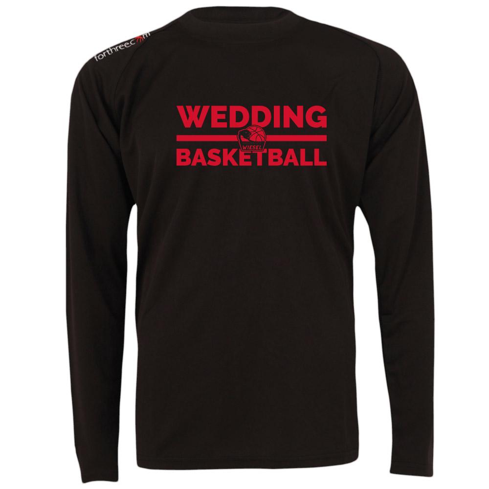 Wedding Basketball Longsleeve schwarz