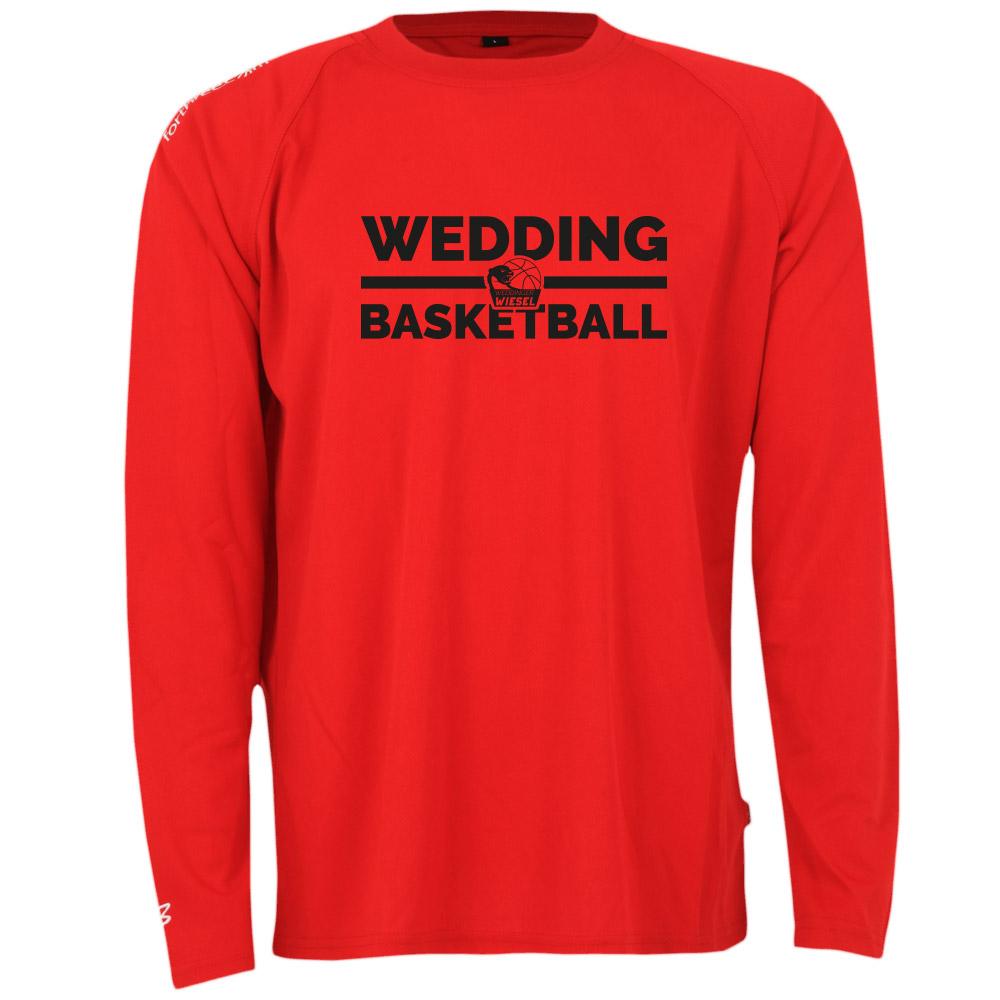Wedding Basketball Longsleeve rot