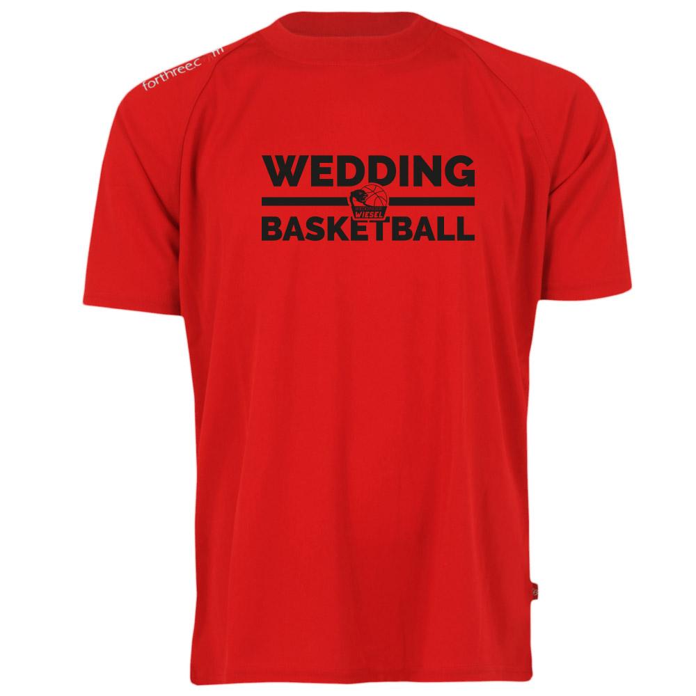 Wedding Basketball Shooting-Shirt rot