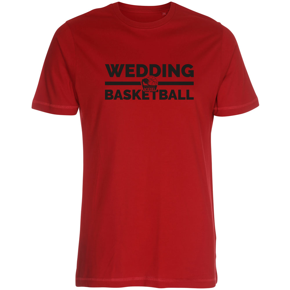 Wedding Basketball T-Shirt dunkelrot