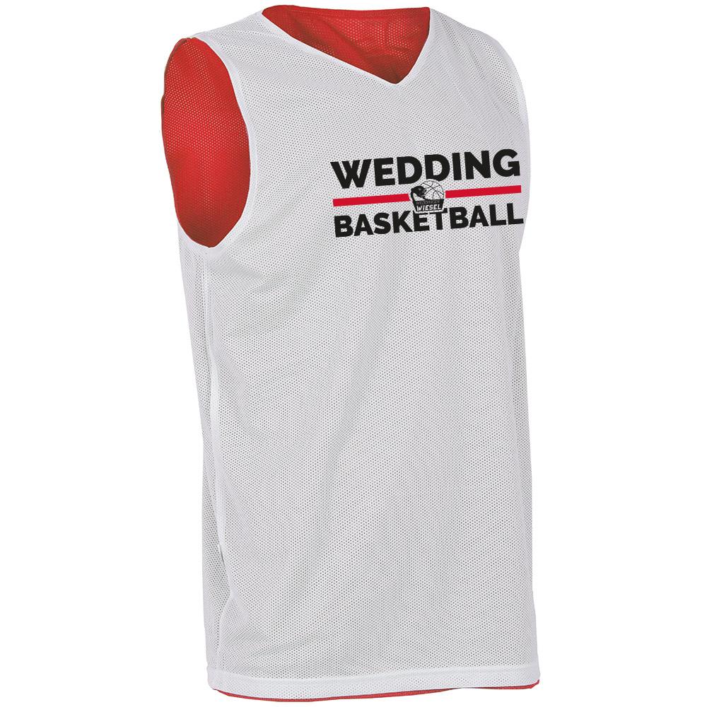 Wedding Basketball Wendetrikot weiß/rot