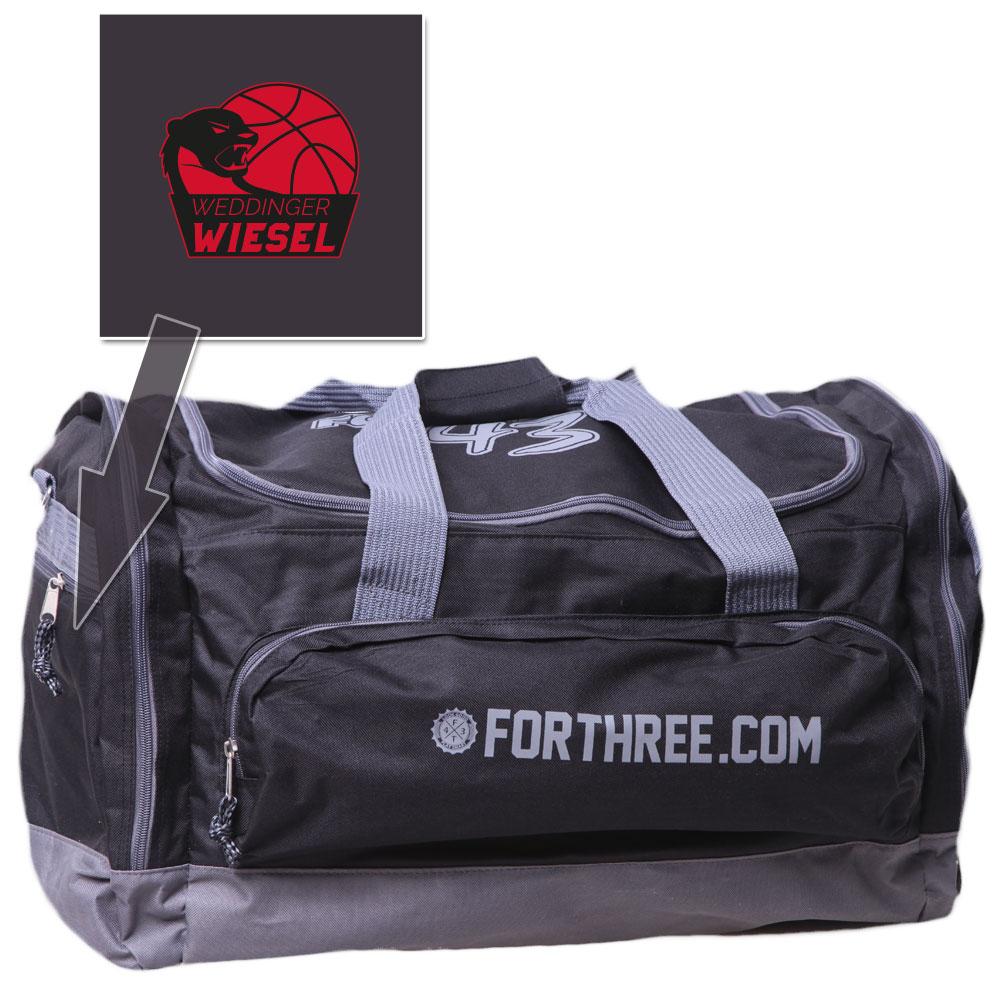 Weddinger Wiesel Sporttasche dunkelgrau